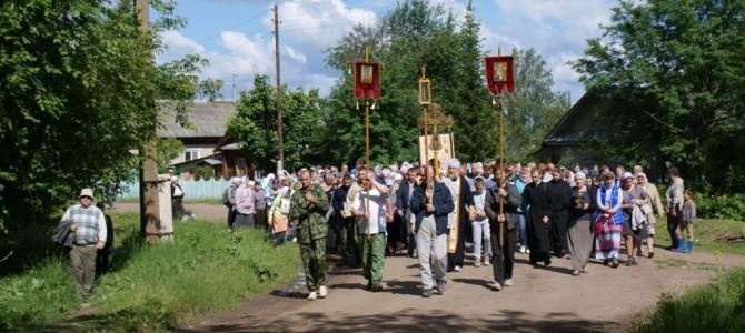 Крестный ход с явленным образом Николая Кыласовского